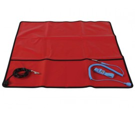 KIT ANTISTATIQUE - ROUGE - 60 x 60 cm