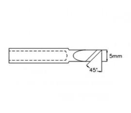 PANNE DE FER À SOUDER CMS - POINTE LAME 45° - 5 mm