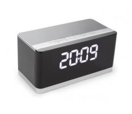 RÉVEIL-MATIN SANS FIL AVEC MINI HAUT-PARLEUR AUX + FM + USB + MICRO-USB