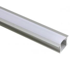 PROFILÉ EN ALUMINIUM POUR FLEXIBLES LED - 15mm - À ENCASTRER - 2m