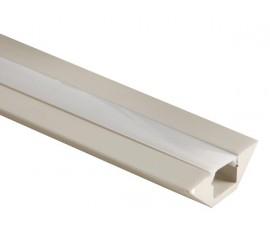 PROFILÉ EN MDF POUR FLEXIBLES LED - 45° - 1m