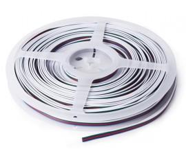 CÂBLE RVB POUR FLEXIBLES LED - 4 CONDUCTEURS - 25 m (4 x 0.33 mm²)