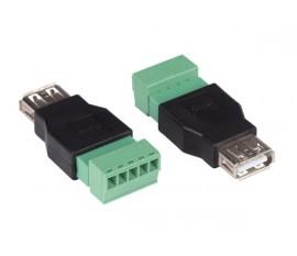 2 x USB A FEMELLE VERS CONNEXION À VIS 5 BROCHES