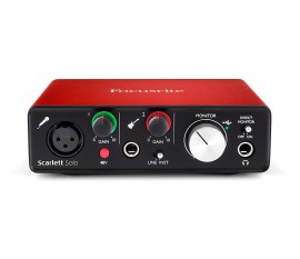 Interface audio USB 2 entrées / 2 sorties Scarlett solo