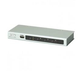 4-Port Commutateur HDMI Argent