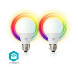 Ampoules LED Intelligentes Wi-Fi | Pleine Couleur et Blanc Chaud | E27 | Lot de 2
