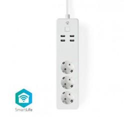 Prise d'Extension Wi-Fi Intelligente | 3x Schuko Type F | 4x USB | 16 A