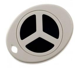 Boîtier porte-clés 43 x 55 x 13.4 mm gris ABS