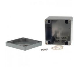 Boîtier plastique 100 x 100 x 90 mm gris foncé ABS IP 65
