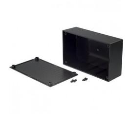 Boîtier plastique 95.5 x 157.8 x 53 mm noir ABS