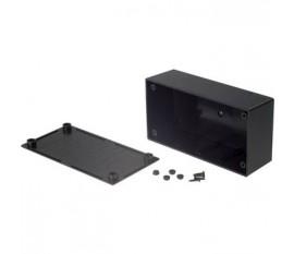 Boîtier plastique 68 x 130 x 44 mm noir ABS