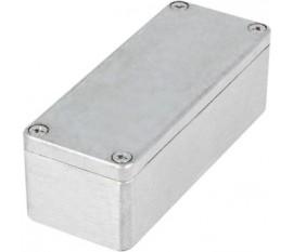 Boîtier métallique, gris clair, 100 x 160 x 81 mm, Alliage d'aluminium / ADC12, IP 65
