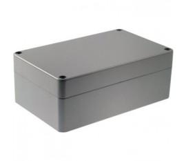 Boîtier métallique, gris clair, 100 x 160 x 60 mm, Alliage d'aluminium / ADC12, IP 65