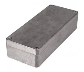 Boîtier métallique, gris clair, 63 x 150 x 37 mm, Alliage d'aluminium / ADC12, IP 65