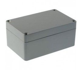 Boîtier métallique, gris clair, 80 x 125 x 57 mm, Alliage d'aluminium / ADC12, IP 65