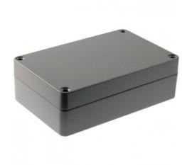 Boîtier métallique, gris clair, 80 x 125 x 40 mm, Alliage d'aluminium / ADC12, IP 65