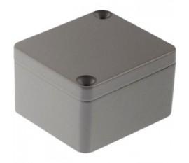 Boîtier métallique, gris clair, 45 x 50 x 30 mm, Alliage d'aluminium / ADC12, IP 65
