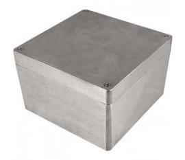 Boîtier métallique, gris clair, 159 x 159 x 102 mm, Alliage d'aluminium / ADC12, IP 65