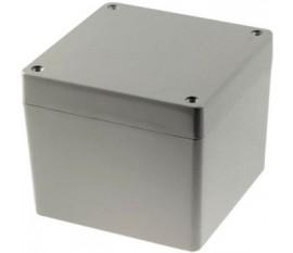 Boîtier métallique, gris clair, 121 x 121 x 102 mm, Alliage d'aluminium / ADC12, IP 65