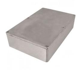 Boîtier métallique, gris clair, 146 x 222 x 55 mm, Alliage d'aluminium / ADC12, IP 65
