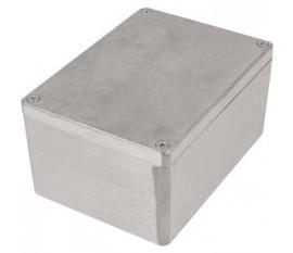 Boîtier métallique, gris clair, 108 x 148 x 75 mm, Alliage d'aluminium / ADC12, IP 65