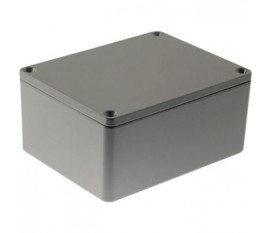 Boîtier métallique, gris clair, 90 x 115 x 55 mm, Alliage d'aluminium / ADC12, IP 65