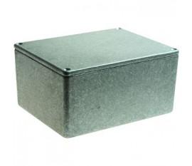 Boîtier métallique, gris, 95 x 121 x 61 mm, Fonte d'aluminium, IP 54