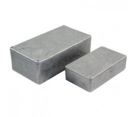 Boîtier métallique, gris, 50 x 50 x 31 mm, Fonte d'aluminium, IP 54