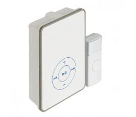 Sonette sans fils avec batterie 80 dB Blanc/Gris