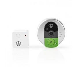 Sonnette Vidéo sans Fil | 720p | Prise en Charge de l'Application | Carillon d'Intérieur | Vidéo en Direct et Connexion Audio Bidirectionnelle