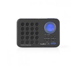 Radio FM   3 W   Horloge et Alarme   Port USB et Logement Carte microSD   Noir/Bleu