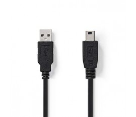 Câble USB 2.0   A Mâle - Mini Mâle à 5 Broches   3,0 m   Noir