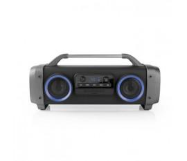 Party Boombox | Autonomie d'Écoute de 3 Heures | Technologie Sans Fil Bluetooth® | Radio FM | Feux de Fête | Noir