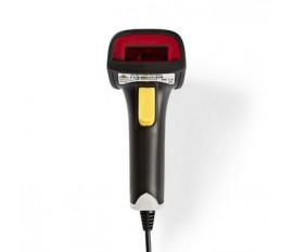Scanner de Codes à barres Laser | Linéaire 1D | USB 2.0 | Gris/Noir