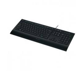 Clavier filaire Bureau USB US International Noir