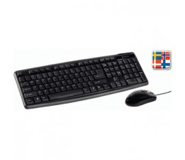 Kit Souris et clavier filiare Standard USB Nordic Noir