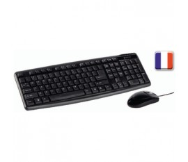 Kit Souris et clavier filiare Standard USB French Noir