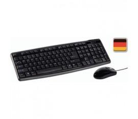 Kit Souris et clavier filiare Standard USB German Noir