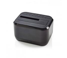 Station d'Accueil pour Disque Dur | USB 3.0 | SATA | Baie Unique | avec Adaptateur Secteur