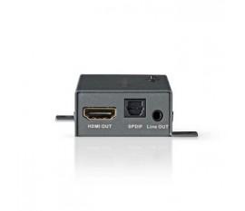 Extracteur Audio HDMI™ | Numérique et stéréo - 1 entrée HDMI™ | 1 sortie HDMI™ + Toslink + 3,5 mm