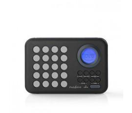 Radio FM | 3 W | Horloge et Alarme | Port USB et Logement Carte microSD | Noir/Gris