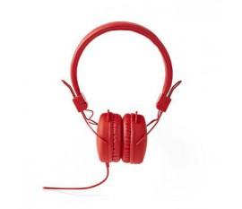 Écouteurs filaires | Enveloppant | Pliable | Câble Rond de 1,2 m | Touche rouge