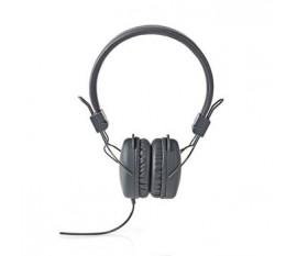 Écouteurs filaires | Enveloppant | Pliable | Câble Rond de 1,2 m | Gris
