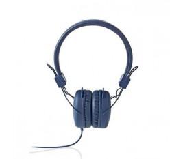 Écouteurs filaires | Enveloppant | Pliable | Câble Rond de 1,2 m | Bleu