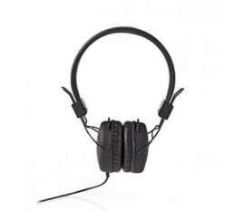 Écouteurs filaires | Enveloppant | Pliable | Câble Rond de 1,2 m | Noir