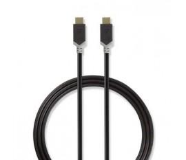 Câble USB 3.1 (Gen1) | Type-C Mâle - Type-C Mâle | 1,0 m | Anthracite