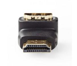 Adaptateur HDMI | Connecteur HDMI - HDMI Femelle | Angle de 90° | Noir
