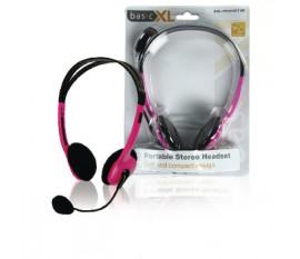 Ecouteurs audio Sur l'oreille 2x 3.5 mm Microphone intégré 2.0 m Rose