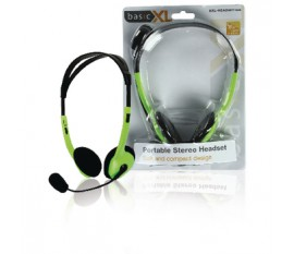 Ecouteurs audio Sur l'oreille 2x 3.5 mm Microphone intégré 2.0 m Vert