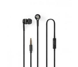 Écouteurs Filaires | Câble Rond de 1,2 m | Intra-Auriculaires | Microphone Intégré | Noir